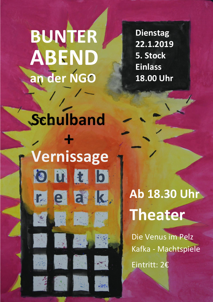 Plakat bunter Abend End